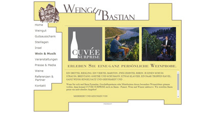 Website Weingut Bastian