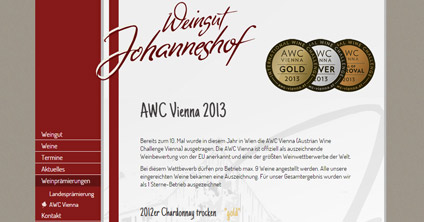 Website Weingut Becker