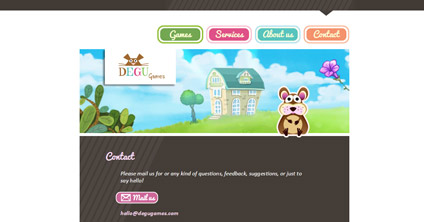 Website DEGU Games